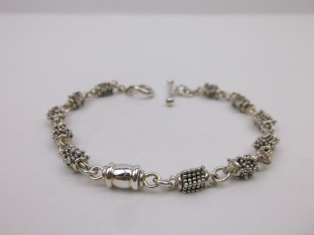 """Michael Dawkins Sterling Granulation Bracelet 7.5"""""""