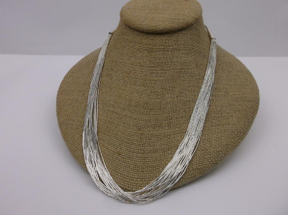 "Alvin Chee Navajo Sterling Strand Necklace 21"""
