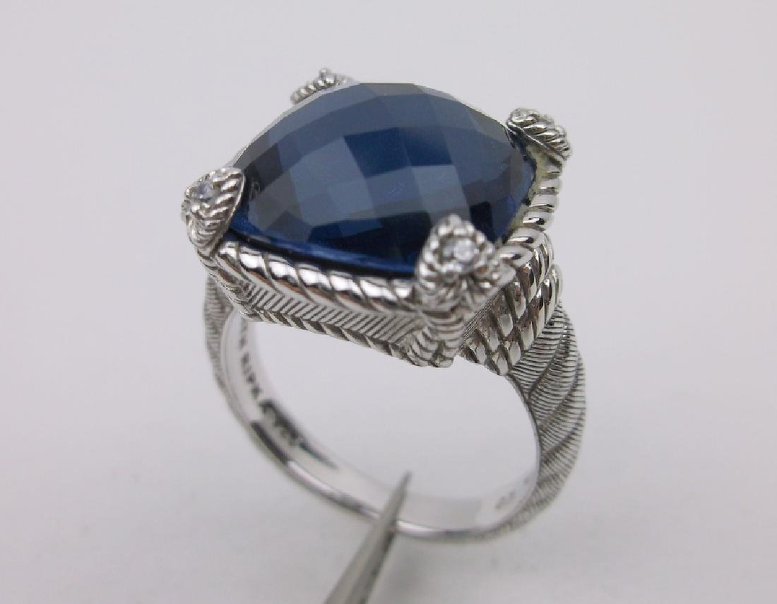 Judith Ripka Sterling Silver Spinel Ring 10 Stunning