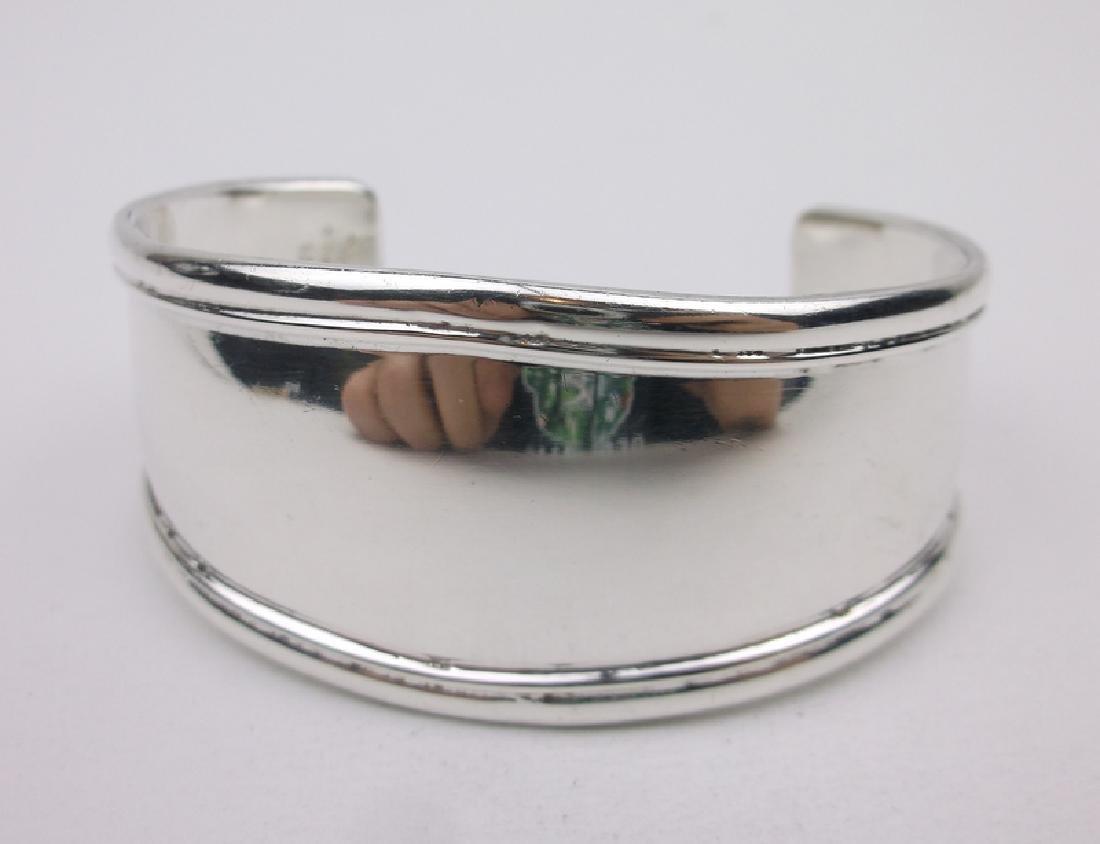 Huge Heavy Taxco Sterling Cuff Bracelet TM-16