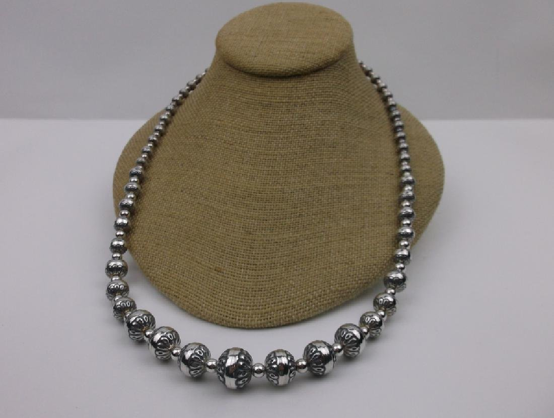 """Carolyn Pollack Sterling Native Pearl Necklace 24"""""""