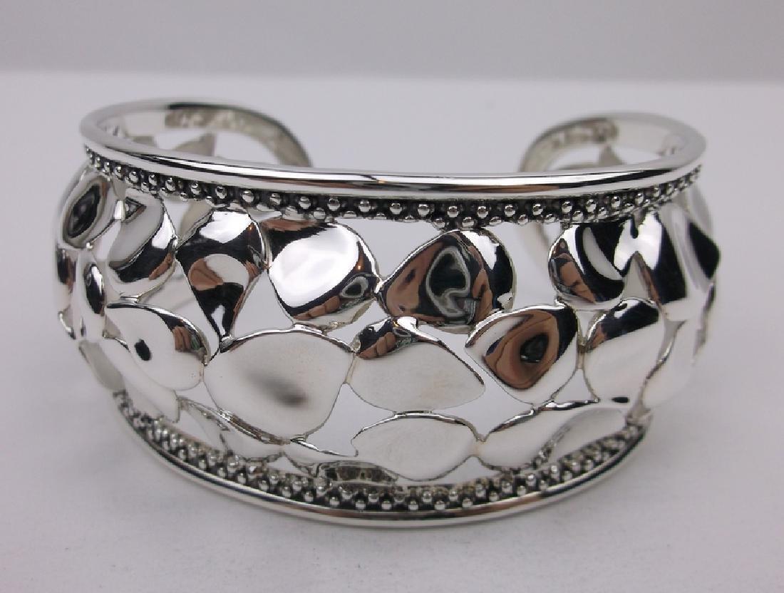 Michael Dawkins Huge Sterling Cuff Bracelet