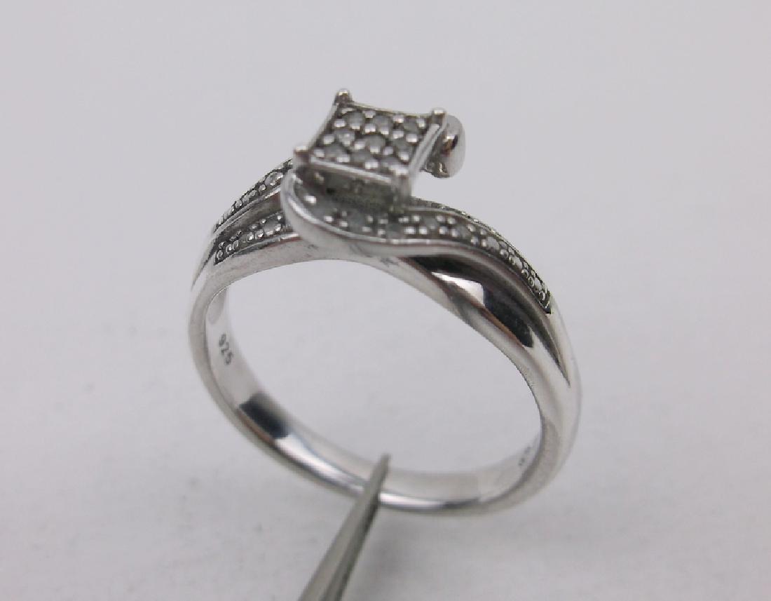 Sterling 25 Gen Diamond Engagement Ring 7