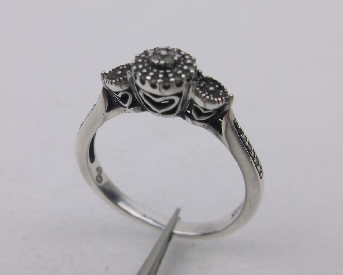 Sterling 20 Gen Diamond Engagement Ring 6.5
