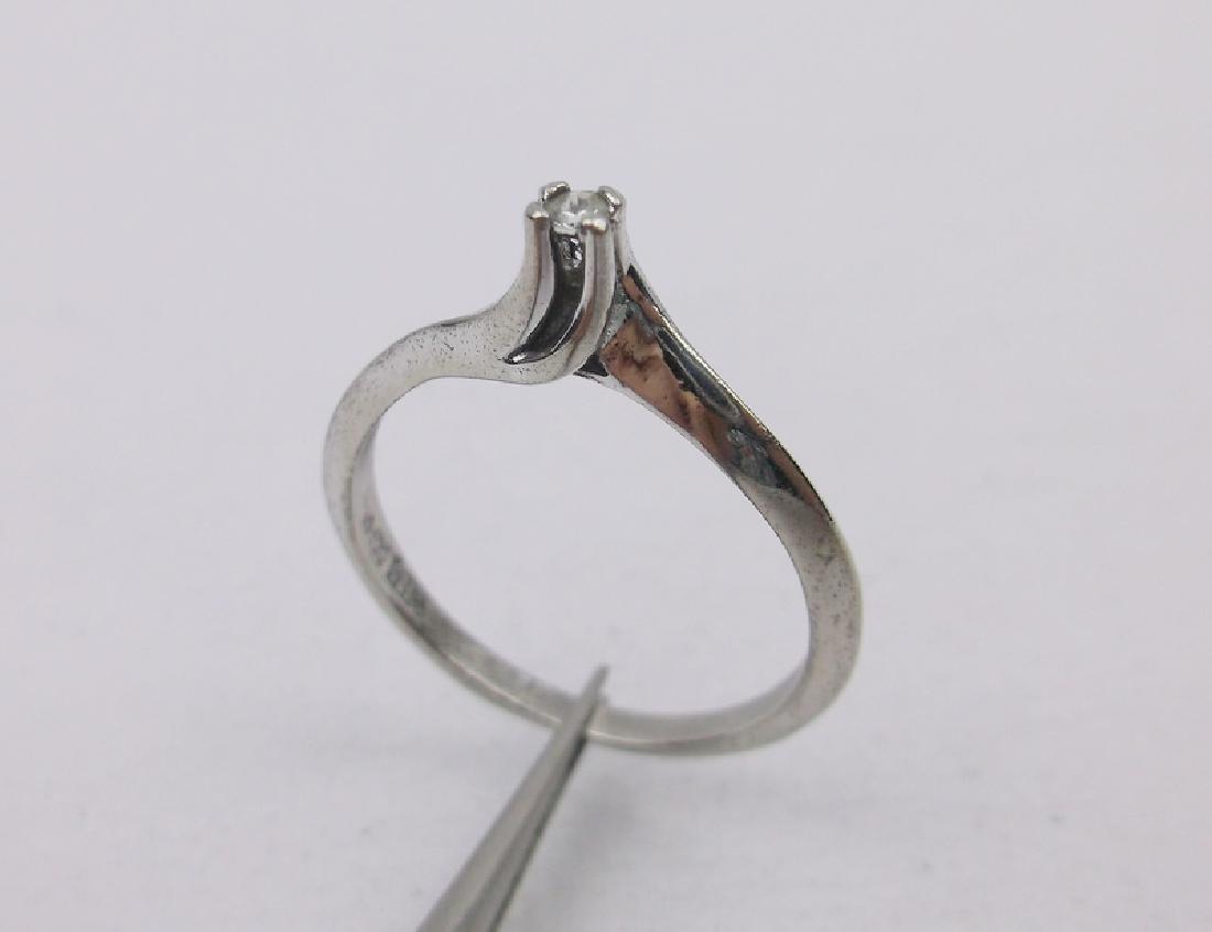Sterling Genuine Diamond Engagement Ring 6