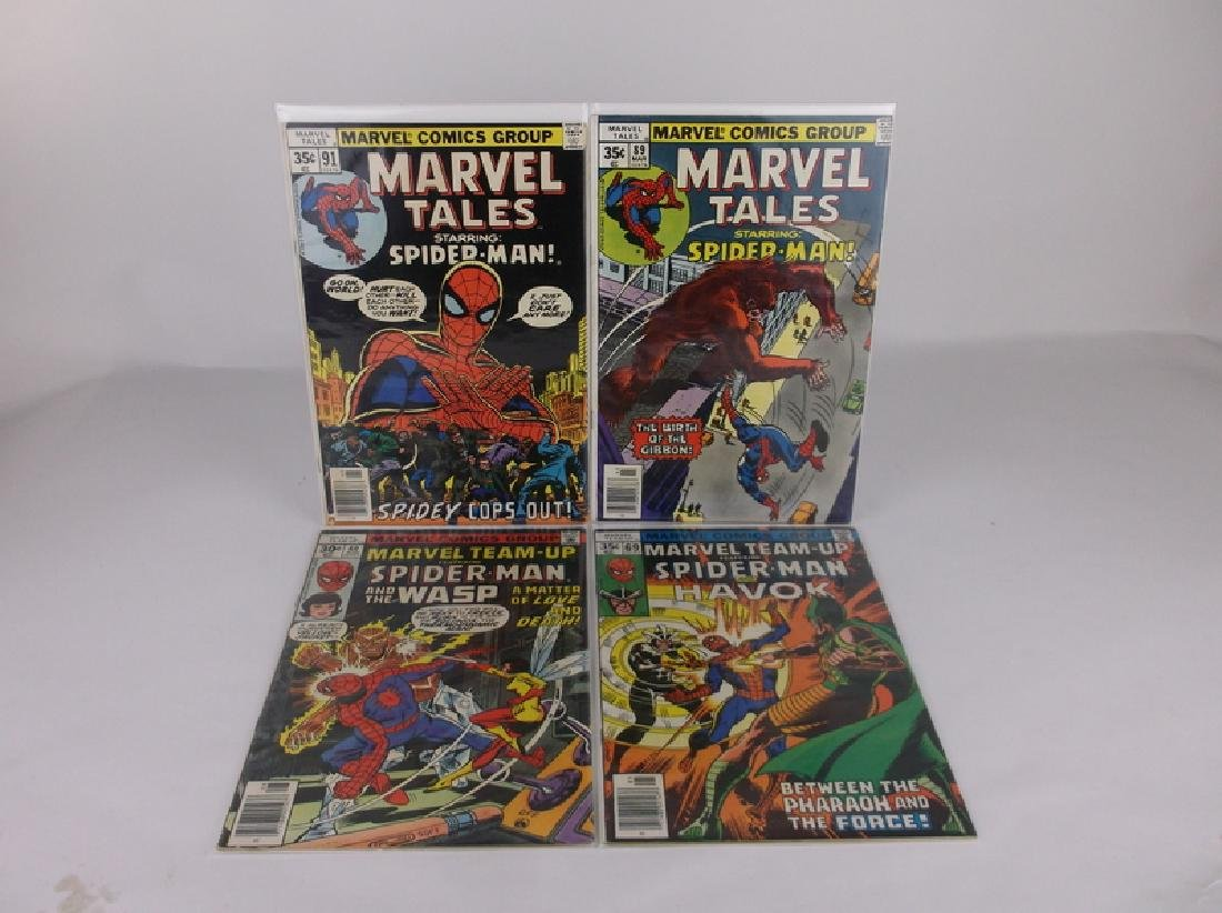 4 Nice 1977-78 Spiderman Comic Books Marvel