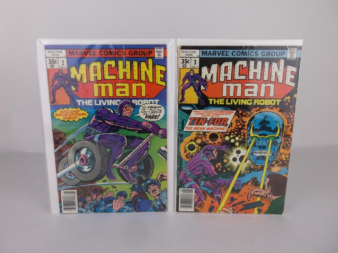 Nice 1978 Machine Man Comic Books #2-3 Marvel