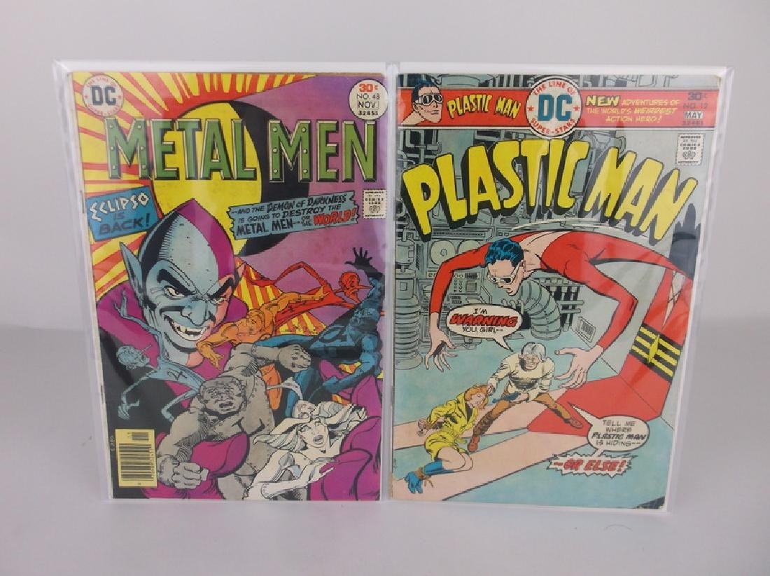 2 Nice 1976 DC Comic Books Plastic Metal Man