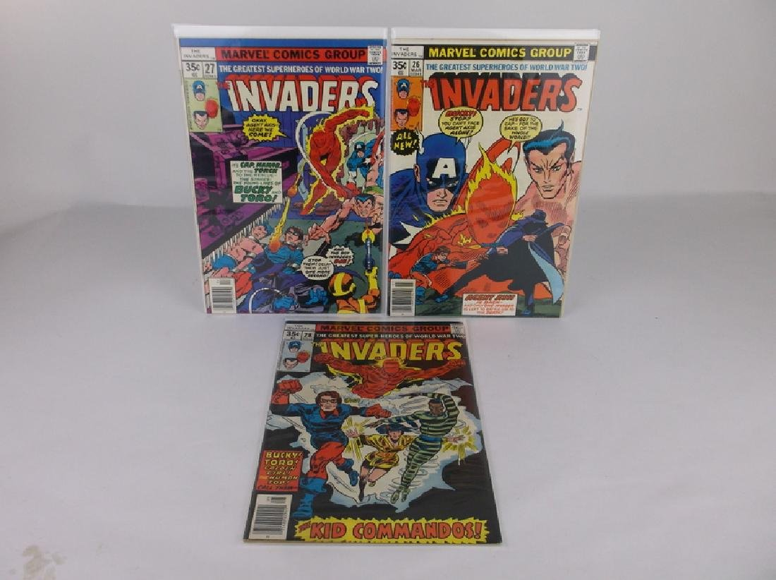 3 Nice 1977-78 The Invaders Comic Books Marvel