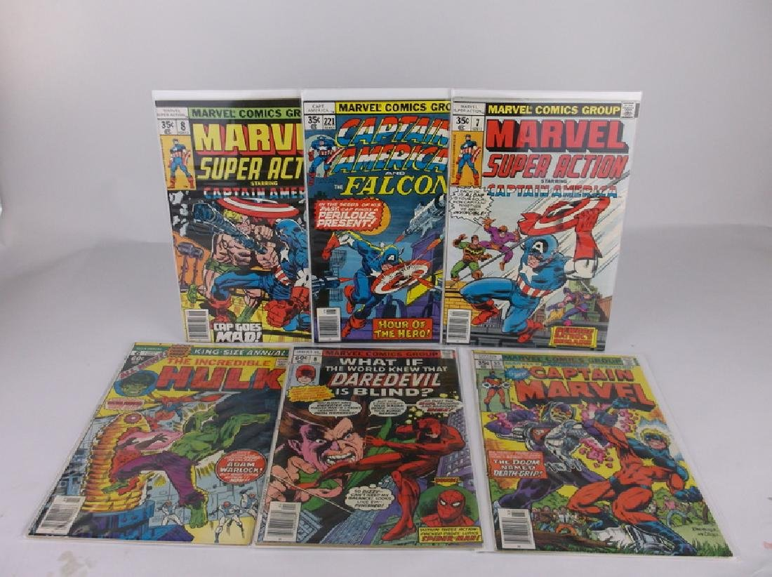 6 Nice 1977-78 Captain America More Comic Books