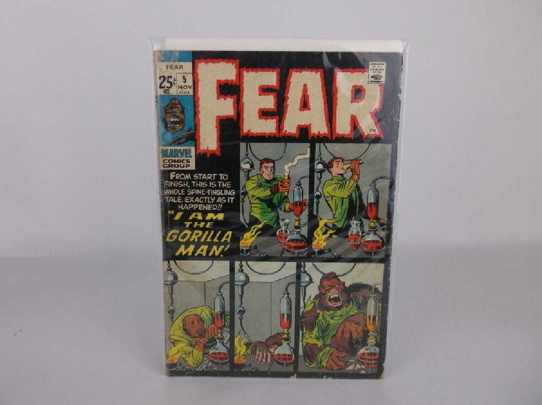 1971 Fear Comic Book #5 Kirby Art Marvel