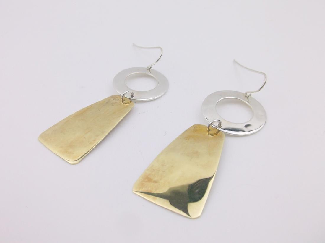 Robert Lee Morris Sterling Brass Earrings