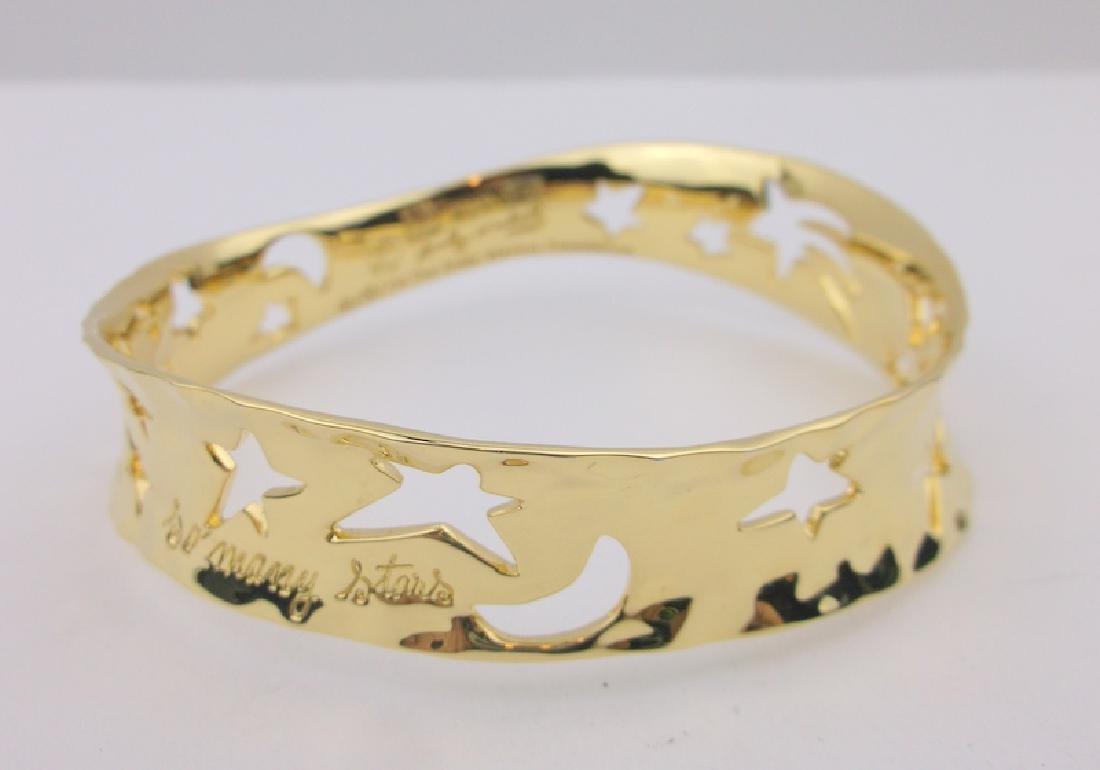 Robert Lee Morris Warhol Stars Brass Bracelet