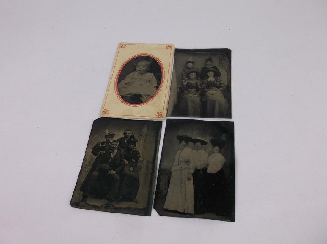 4 1800s Tin Type Photographs Victorian