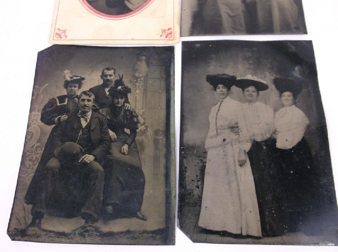 4 1800s Tin Type Photographs Victorian - 2