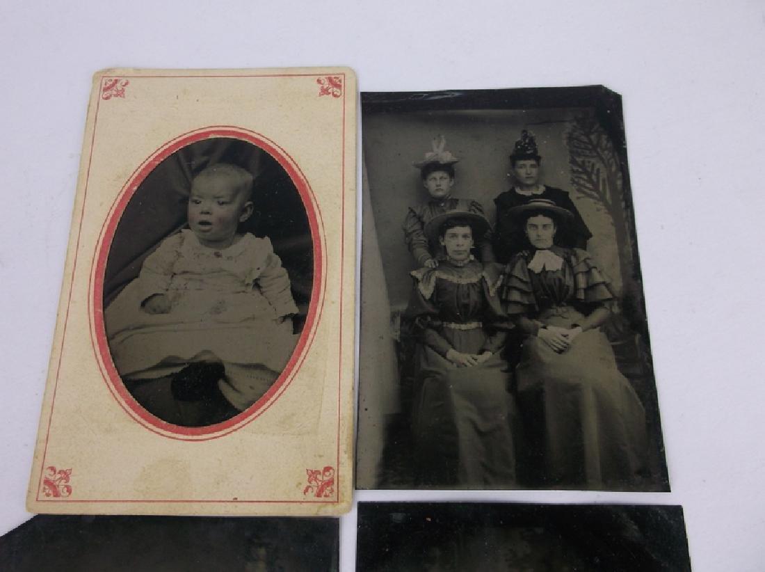 4 1800s Tin Type Photographs Victorian - 3