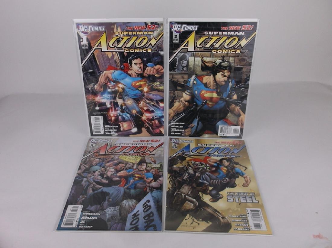 Mint DC Superman Action Comic Books #1-#4
