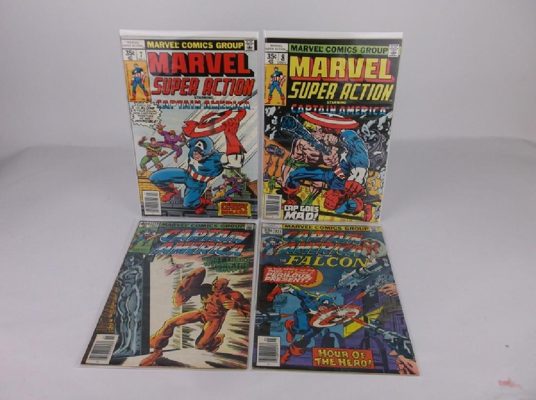 4 Nice 1978-79 Captain America Comic Books marvel