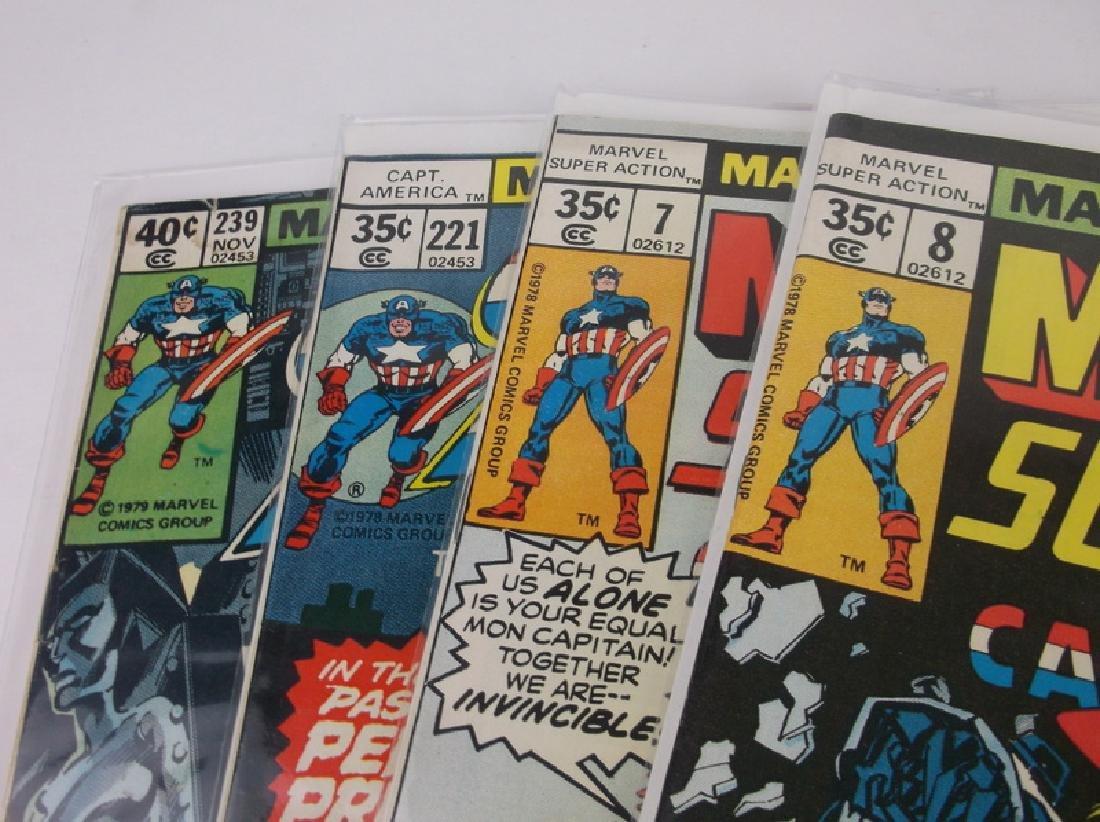 4 Nice 1978-79 Captain America Comic Books marvel - 2