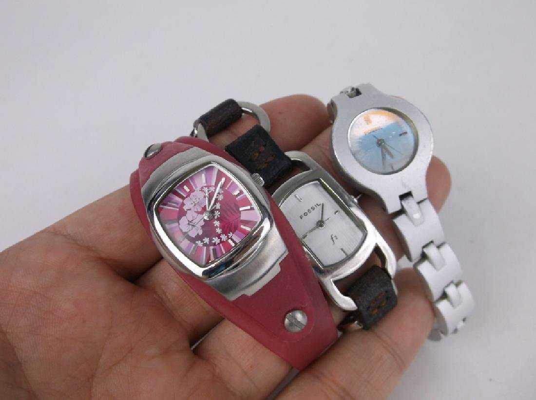 ALL Fossil Wristwatch Lot Work Great Nice - 3