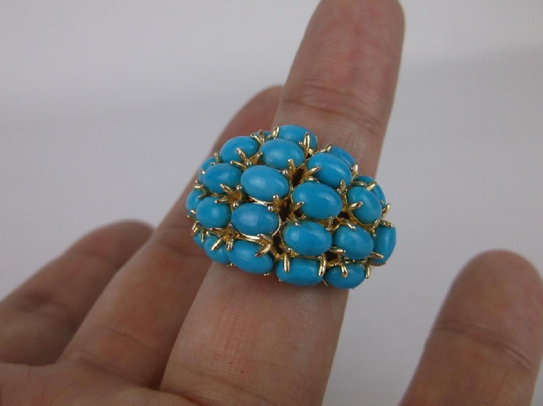 Stunning Turquoise Ring Size 10.5