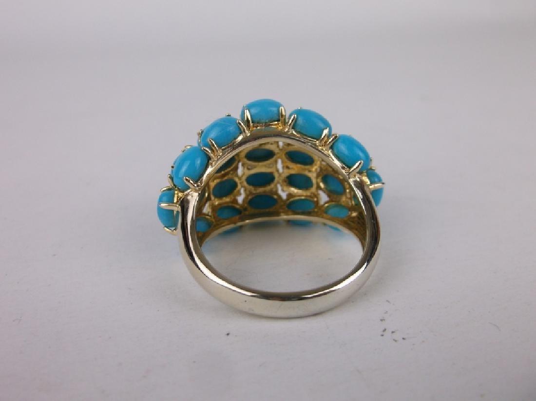 Stunning Turquoise Ring Size 10.5 - 2