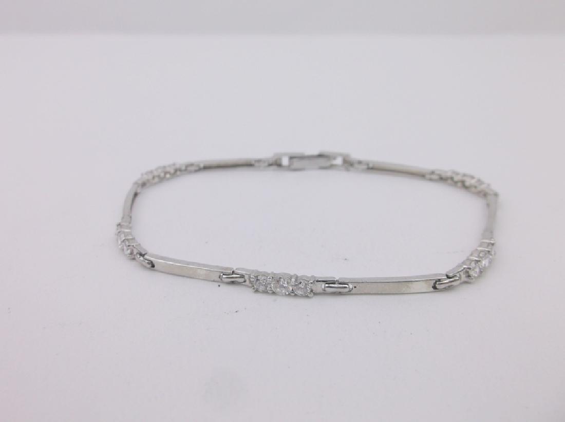 "Gorgeous Sterling Silver Bracelet 7.5"""