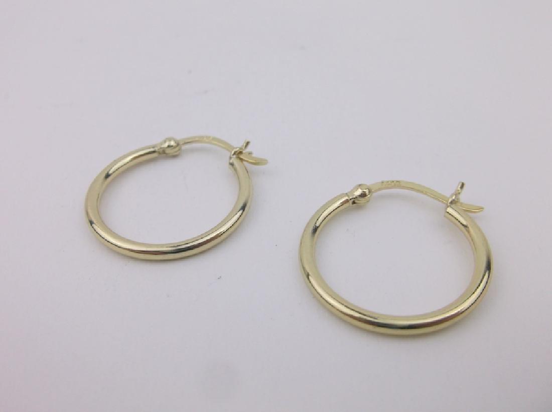 Gorgeous Gold Over Sterling Hoop Earrings