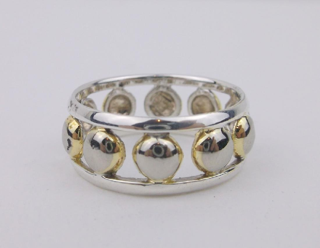 Gorgeous Sterling Silver Dot Ring 8.5
