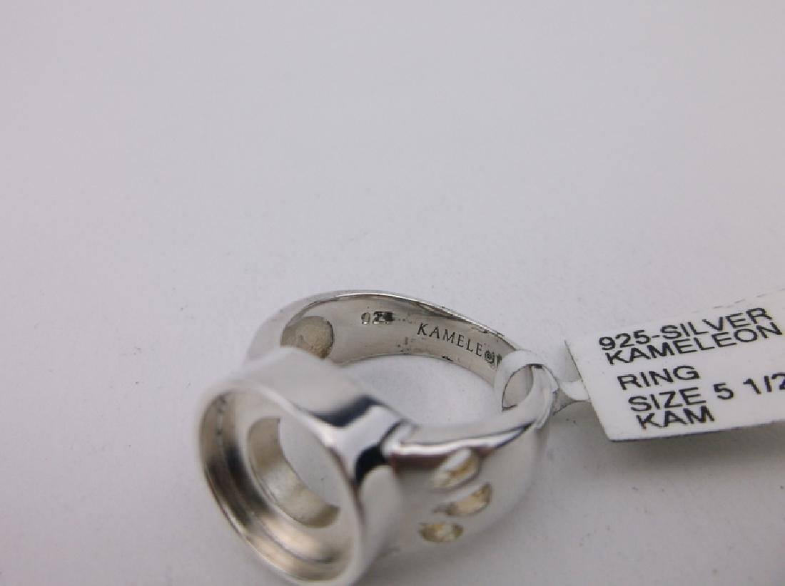 New Sterling Silver Kameleon Ring 5.5 - 2