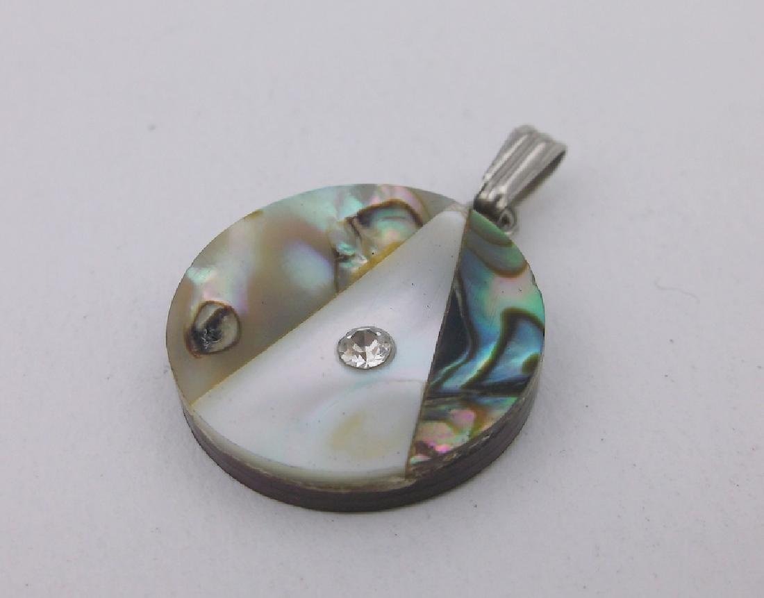 Gorgeous Sterling Silver Abalone Pendant
