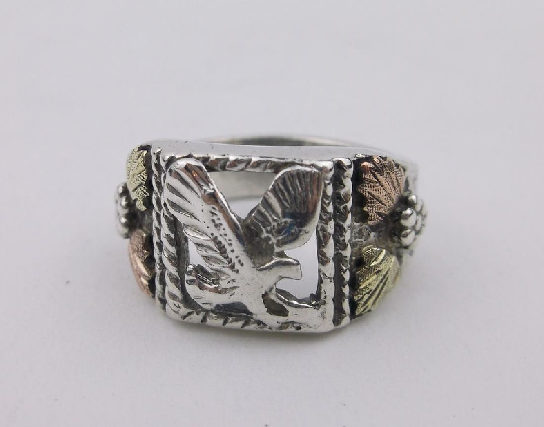 Gorgeous Sterling Black Hills Eagle Ring 6