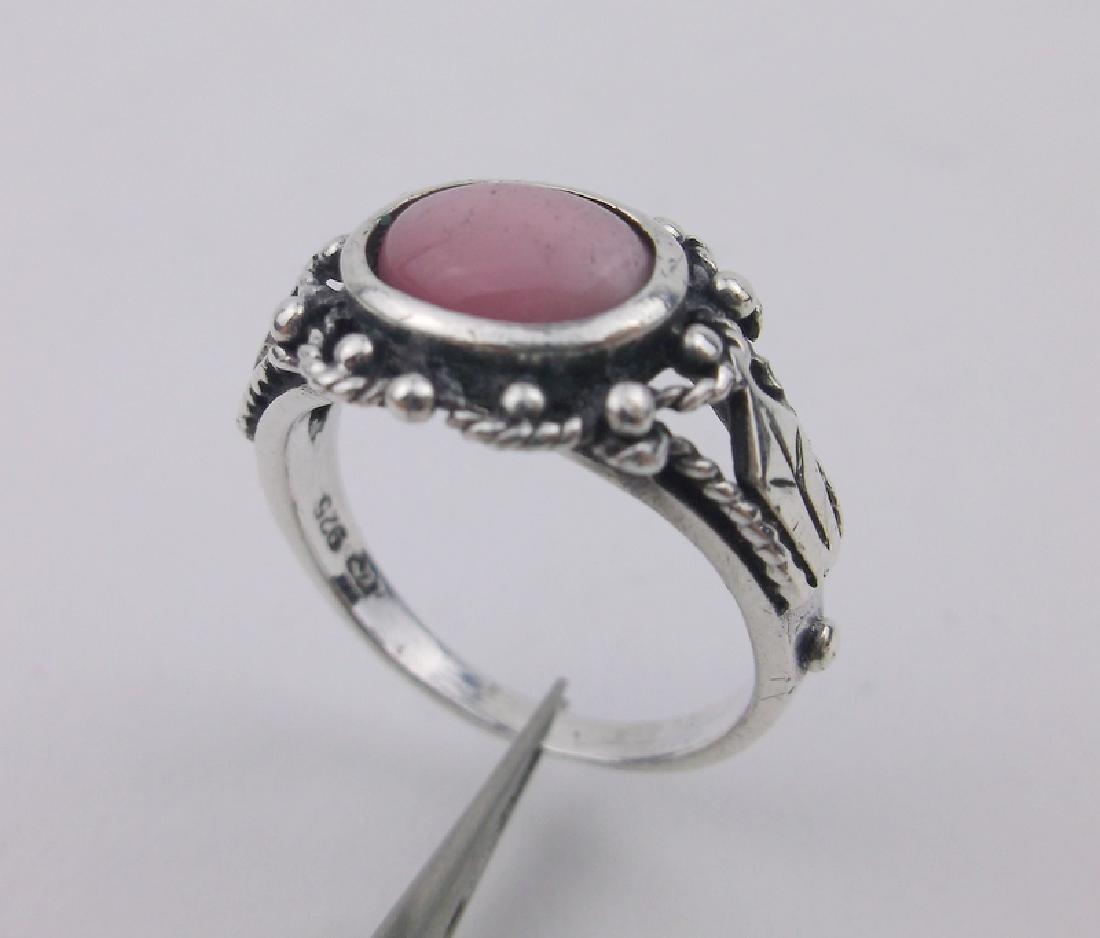 Stunning Sterling Silver Gemstone Ring 7.5