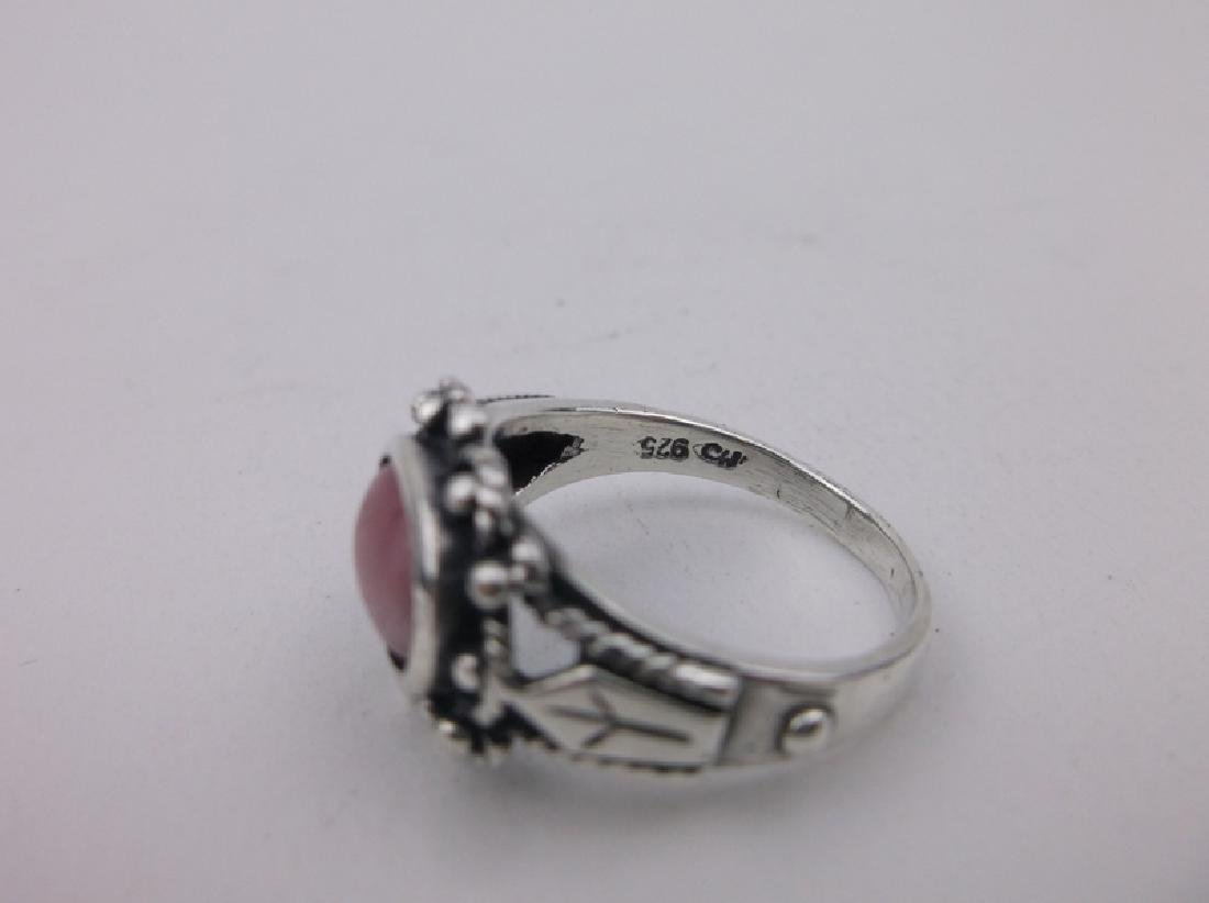 Stunning Sterling Silver Gemstone Ring 7.5 - 2