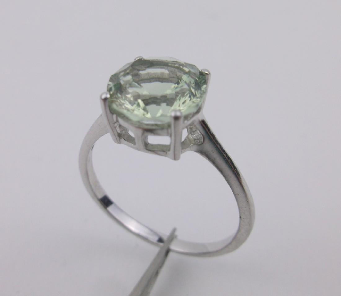Stunning Sterling Silver Peridot Ring 10