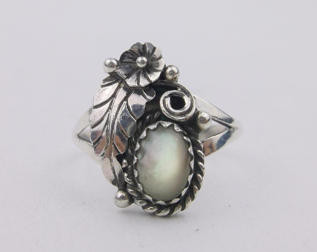 Stunning Navajo Sterling MOP Ring 6.5 Y