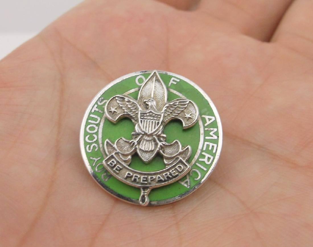 Rare Antique Sterling Boy Scout medal
