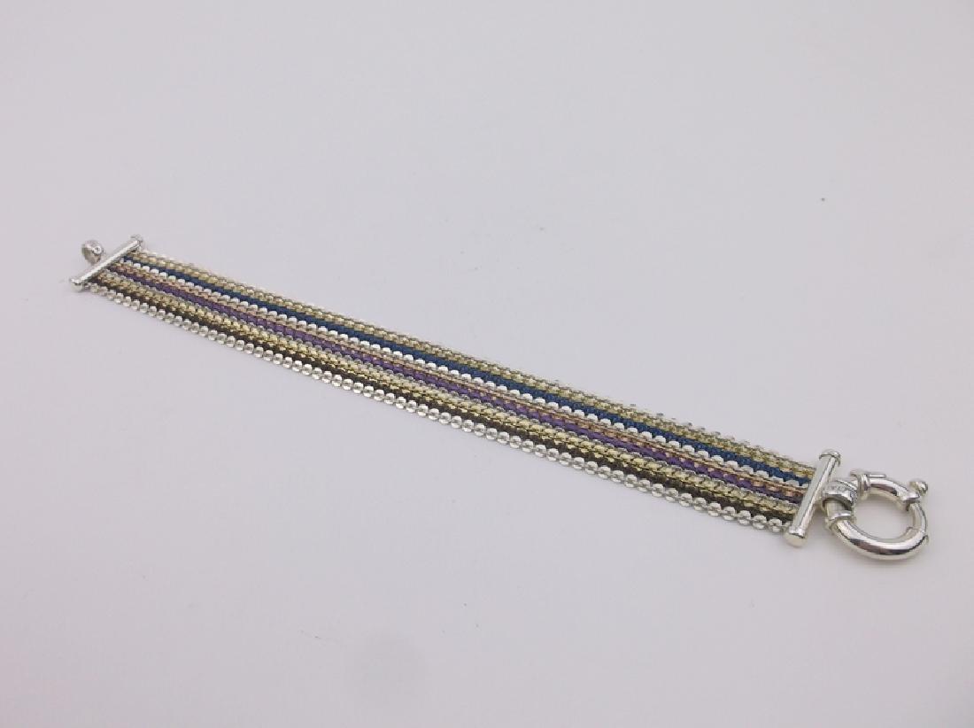"""Stunning Sterling Multi Color Bracelet 7.5"""""""