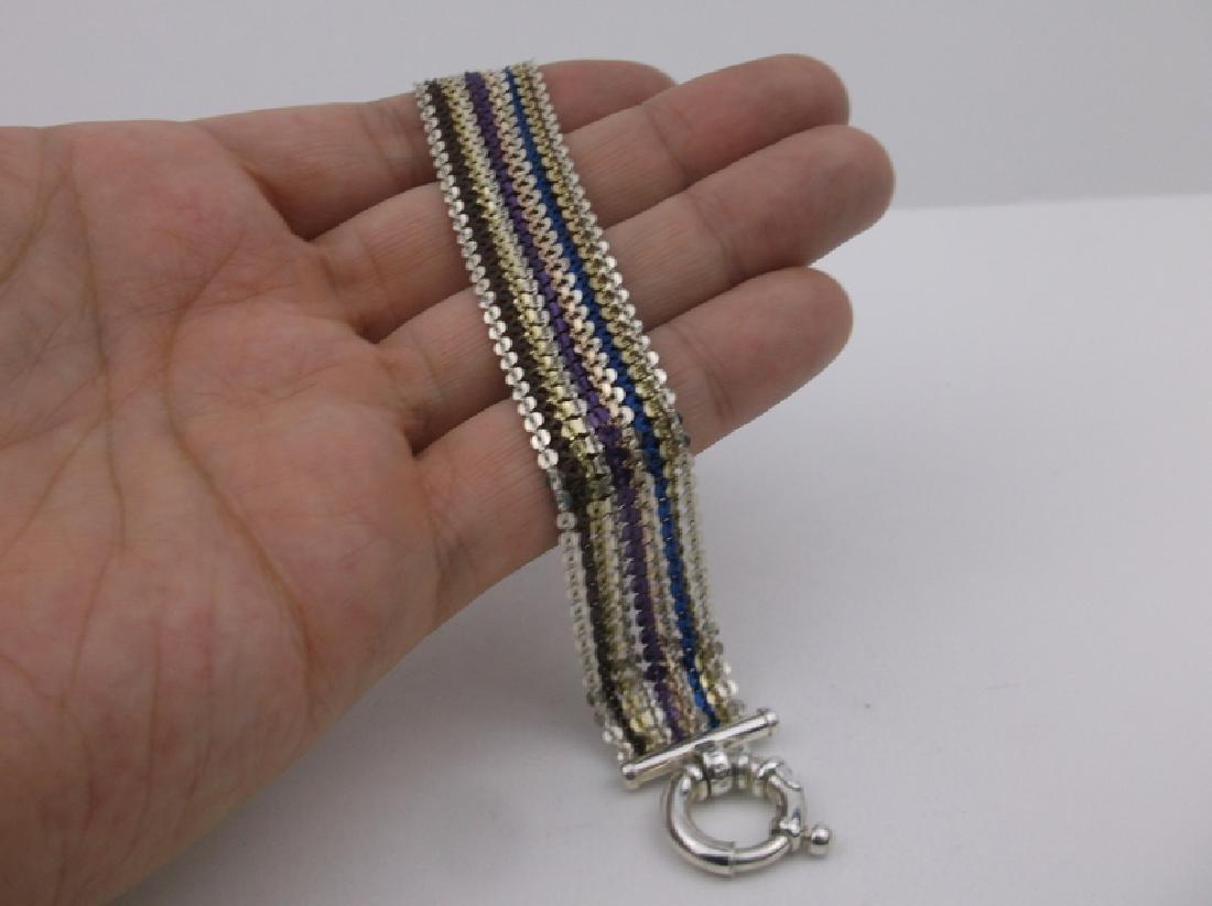 """Stunning Sterling Multi Color Bracelet 7.5"""" - 2"""