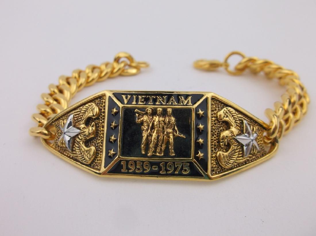 "Stunning Gold Over Sterling Vietnam Bracelet 7"""