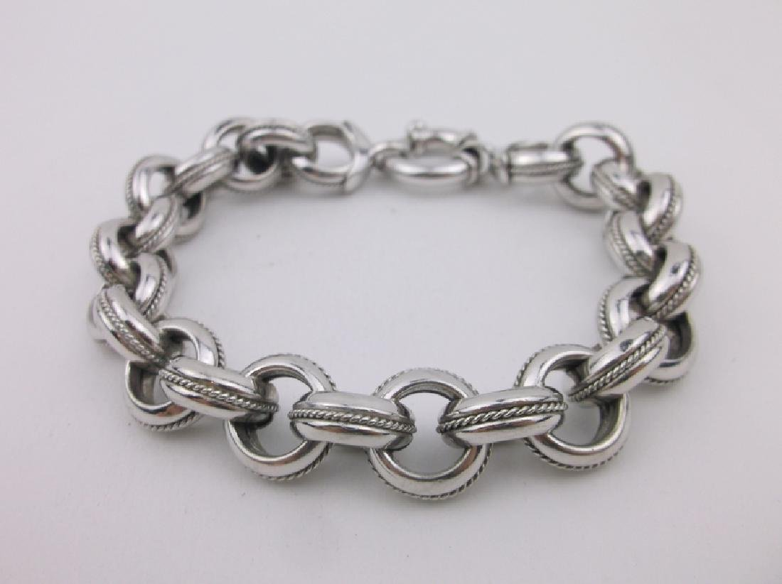 """Stunning Sterling Silver Bracelet 8"""" Thick Chunky"""