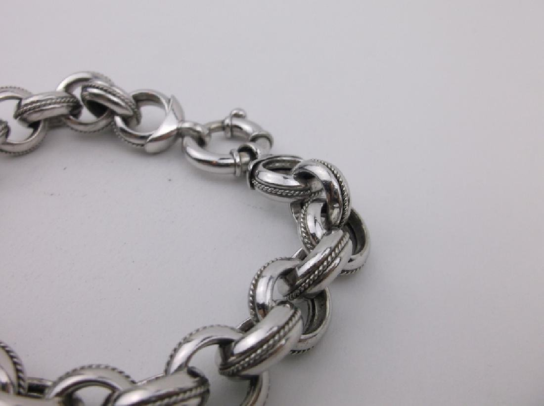 """Stunning Sterling Silver Bracelet 8"""" Thick Chunky - 2"""