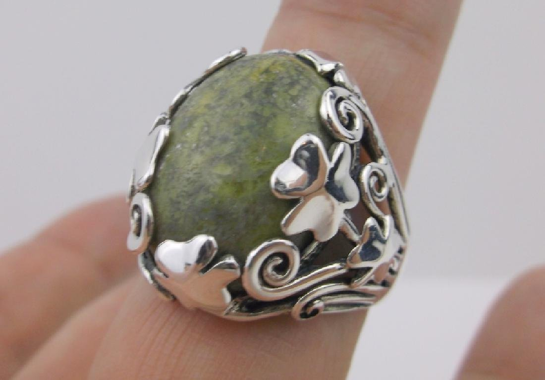 Cashs Ireland Sterling Connemara Ring 10 Shamrock