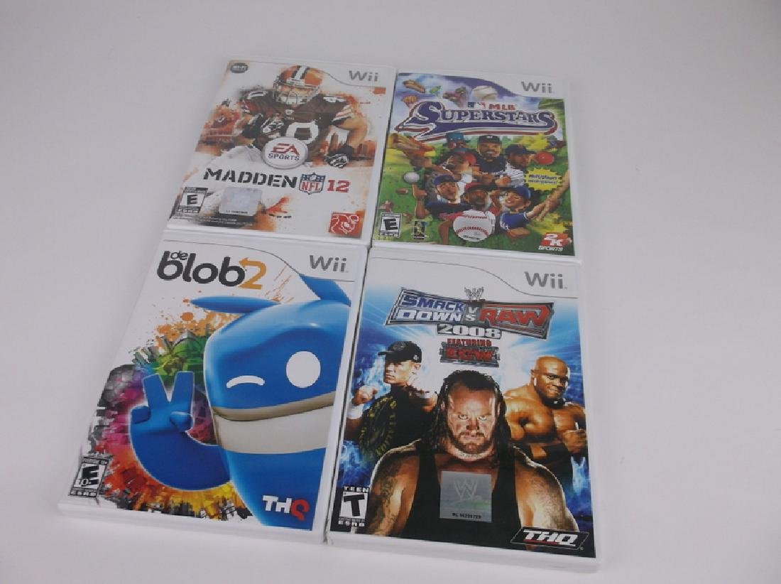 4 Nintendo Wii Game Lot