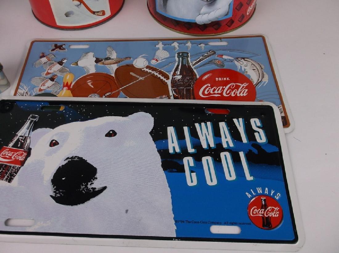 Gorgeous Vintage Coca Cola Tins License Plates - 3