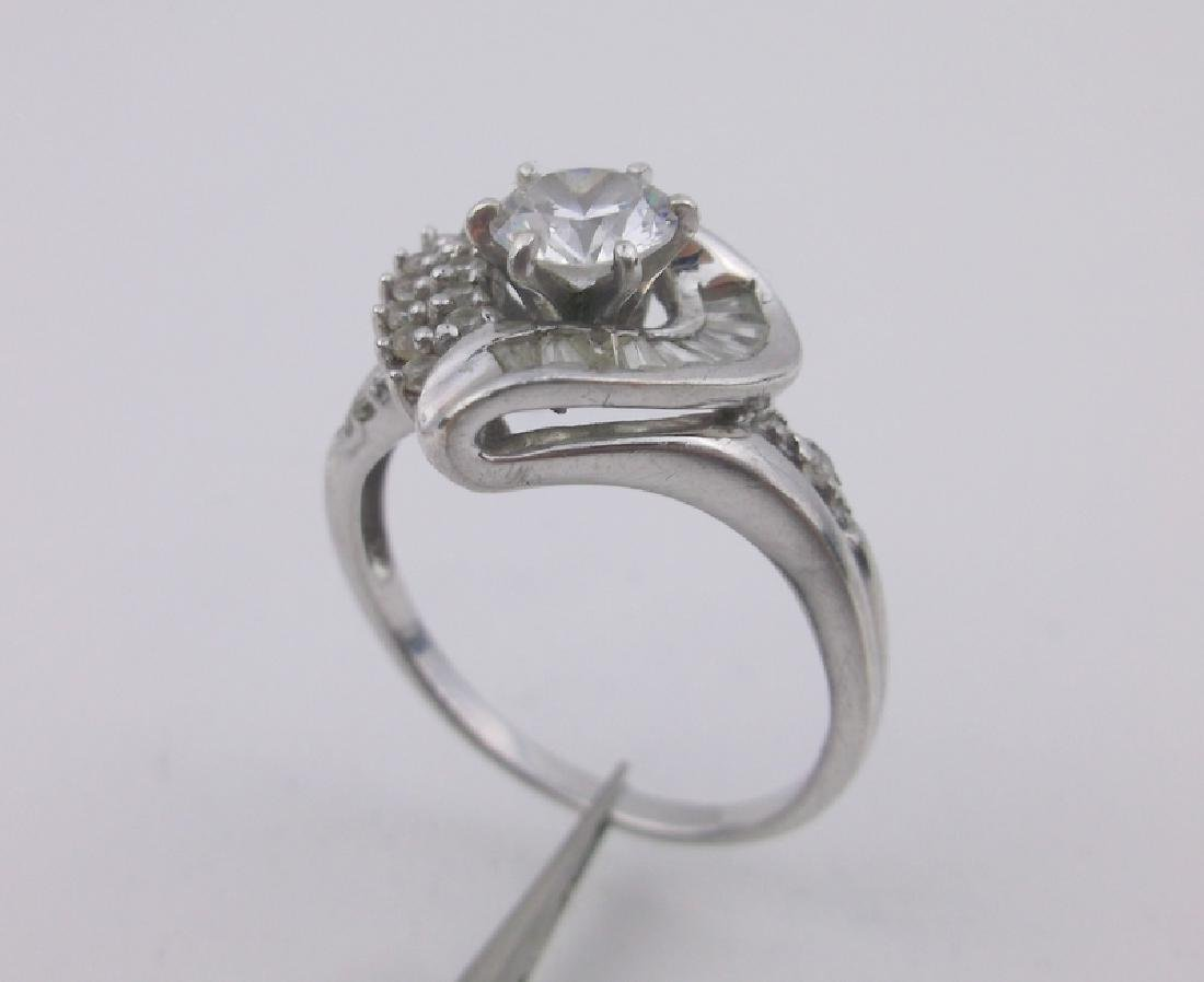Stunning Sterling Silver Engagement Ring 9