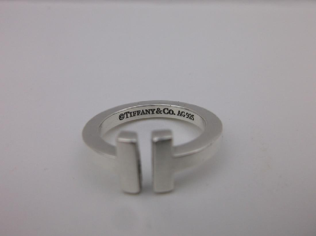 Genuine Tiffany & Co Sterling Silver Ring 5 - 2