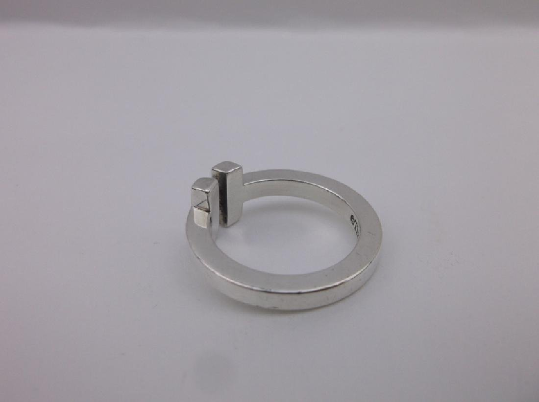 Genuine Tiffany & Co Sterling Silver Ring 5 - 3