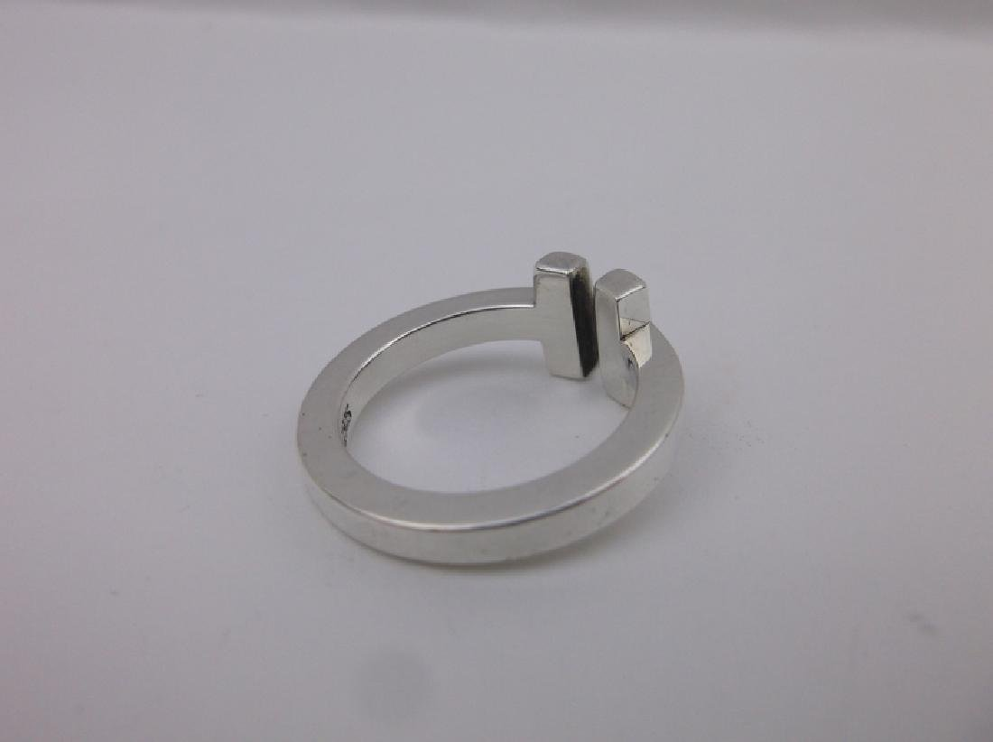 Genuine Tiffany & Co Sterling Silver Ring 5 - 4