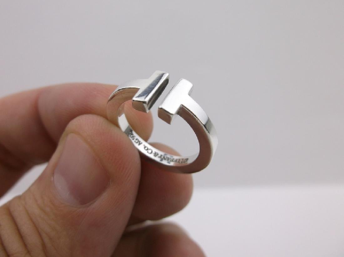 Genuine Tiffany & Co Sterling Silver Ring 5 - 5